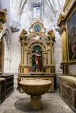Wnętrze katedra Cuenca, chrzestna kaplica wezwanie, także Fotografia Royalty Free