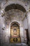 Wnętrze katedra Cuenca, kaplica Muñoz, zakładał obok Obrazy Stock