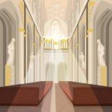Wnętrze Katedralny kościół lub katolik bazylika Fotografia Royalty Free