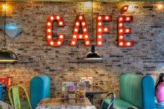 Wnętrze kawowy bar obraz royalty free