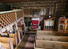 Wnętrze klepka kościół w Bykle Fotografia Royalty Free