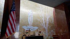 Wnętrze kościół Florencja cmentarz Amerykański pomnik i, Florencja, Tuscany, Włochy obrazy royalty free