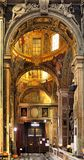 Wnętrze kościół Gesu, Jezus w genui/, Włochy Zdjęcia Stock
