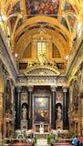 Wnętrze kościół Gesu, Jezus w genui/, Włochy Obrazy Stock