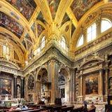 Wnętrze kościół Gesu, Jezus w genui/, Włochy Obraz Royalty Free