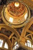 Wnętrze kościół Gesu, Jezus w genui/, Włochy Fotografia Royalty Free