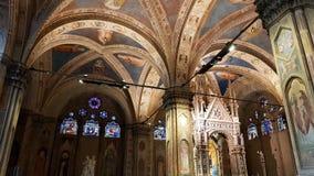 Wnętrze kościół Orsanmichele kościół Arti antyczni Florenccy cechy zdjęcie royalty free