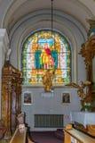 Wnętrze kościół rzymsko-katolicki, lokalizować na Wielkim kwadracie w Sibiu mieście w Rumunia Zdjęcie Royalty Free