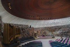 Wnętrze kościół w Helsinki zdjęcie stock