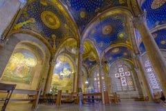 Wnętrze kościół Wszystkie naród bazylika agonia Fotografia Royalty Free