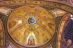 Wnętrze kościół Wszystkie naród bazylika agonia w Jerozolima Obraz Stock