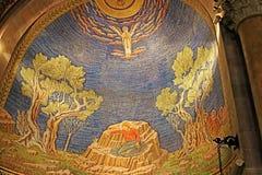Wnętrze kościół Wszystkie naród bazylika agonia w Jerozolima Obraz Royalty Free