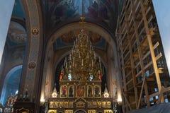 Wnętrze Kościelna sala zdjęcie royalty free