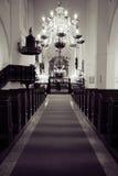 wnętrze kościoła Zdjęcie Stock