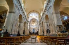 wnętrze kościoła Katedra Santa Agatha - duomo w Catania Zdjęcia Stock