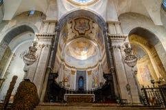 wnętrze kościoła Katedra Santa Agatha - duomo w Catania Obraz Stock
