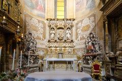 wnętrze kościoła Katedra Santa Agatha - duomo w Catania Obrazy Stock