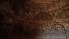 Wnętrze kopuła sufit grota z łukami i projekty przy Buddhas Bamyan zdjęcie wideo