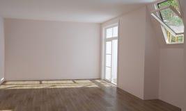 Wnętrze kuchnia i żywy pokój przed kończyć zdjęcie royalty free