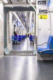 Wnętrze linii 5 bzu pociąg w sao Paulo Obraz Royalty Free