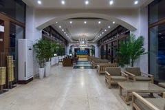 Wnętrze lobby pięć gwiazdowa hotelowa Denna strona Obraz Royalty Free
