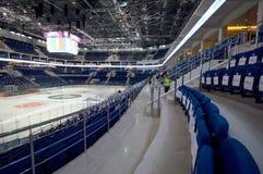 Wnętrze Lodowy pałac VTB Moskwa Zdjęcia Royalty Free