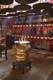 Wnętrze mężczyzna Mo świątynia w Hk Zdjęcie Stock