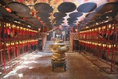 Wnętrze mężczyzna Mo świątynia w Hk Obrazy Stock