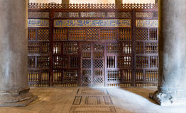 Wnętrze mauzoleum sułtan Qalawun, Stary Kair, Egipt zdjęcie stock
