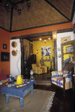 Wnętrze meblujący w portuguese kolonisty stylu dom, tyrada Obrazy Royalty Free