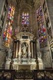 Wnętrze Mediolańska katedra, Włochy Zdjęcia Royalty Free