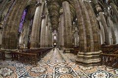 Wnętrze Mediolańska katedra, Włochy Fotografia Royalty Free