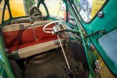 Wnętrze microcar Heinkel Kabine trojańczyk 200, 1956 Obraz Stock