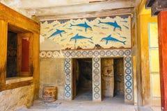 Wnętrze Minoan pałac Knossos fotografia royalty free