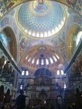 Wnętrze Morska katedra St Nicholas w Kronstadt, Petersburg, Rosja zdjęcie stock