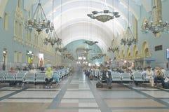 Wnętrze Moskwa stacja kolejowa Zdjęcia Royalty Free
