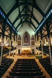 _wnętrze the Mt Vernon miejsca Zlany kościół metodystów w Baltimore, Maryland fotografia stock