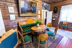Wnętrze muzealny Aleksander Suvorov w farmie zdjęcie royalty free