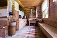Wnętrze muzealny generalissimo Suvorov w farmie fotografia stock