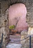 Wnętrze Nasrid pałac, Malaga, Hiszpania zdjęcia royalty free