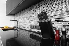 Wnętrze nowożytna europejska kuchnia Fotografia Stock