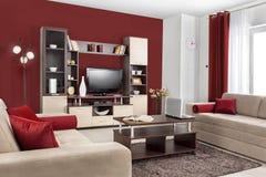 Wnętrze nowożytny żywy pokój w kolorze fotografia royalty free