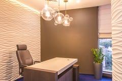 Wnętrze nowożytny biuro meble w biurze comp Obrazy Stock
