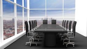 Wnętrze nowożytny biurowy pokój konferencyjny royalty ilustracja