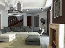 Wnętrze nowożytny living-room Fotografia Stock