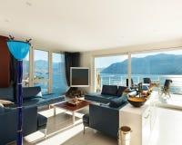 Wnętrze, nowożytny mieszkanie Fotografia Stock