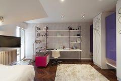 Wnętrze nowożytny mieszkanie Zdjęcia Stock