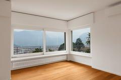 Wnętrze nowożytny mieszkanie, pusty pokój obrazy royalty free