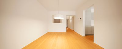 Wnętrze nowożytny mieszkanie, pusty pokój obrazy stock