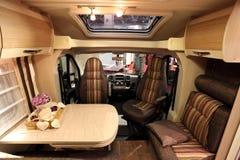 Wnętrze nowożytny motorhome Zdjęcia Royalty Free